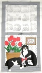 2014 Calendar Towel, C Is For Cat