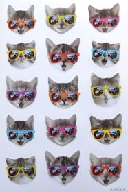 Cat Stickers, Cat With Glasses