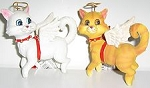 Cat Angel Ornament, White Or Orange