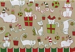 Cat Christmas Card, Meow