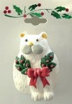 Cat Christmas Pin, Cat With Wreath