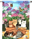 Cat Flag, Kittens In A Basket, Mini