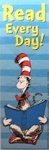 Cat In The Hat Bookmark, Read Every Day!