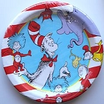 Cat In The Hat Paper Plates, Dessert