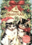 Cat Note Pad, Christmas Kittens