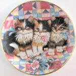 Collectible Cat Plate, Patchwork Pals