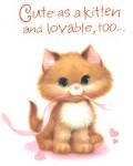 Cat Valentine Card, Cute As A Kitten