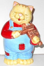 Collectible Cat Bank, Cat And The Fiddle