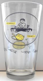 Collectible Cat Drinking Glass, Dinner Theater