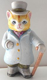 Collectible Kitty Cucumber Figure, J. P. Buster