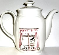 Collectible Porcelain Cat Coffee Pot