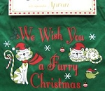 Apron With Cats, Furry Christmas Cats