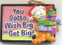 Garfield Christmas Ornament, Wish Big
