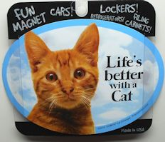 Sample, Cat Magnet, Life's Better With A Cat, Orange Cat