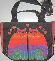 Laurel Burch Cat Purse, Rainbow Cats