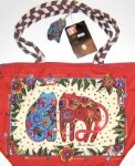 Laurel Burch Medium Purse Or Tote, Flowering Felines