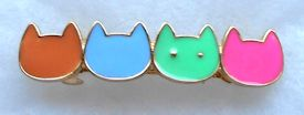 Sample, Cat Barrette, 4 Faces