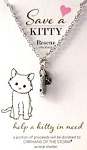 Sample, Rescue Kitty Necklace, Paw Print And Tag