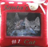 Santa's #1 Cat Pillow