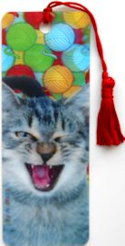 3D Cat Bookmark, Cat Smiling