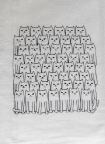 55 Cats Flour Sack Towel