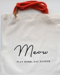 Canvas Tote, Meow