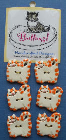 Sample, Orange And White Cat Buttons