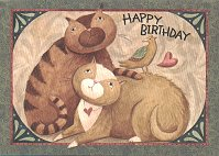Cat Birthday And Recipe Card