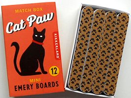 Cat Emery Boards, Matchbook Size