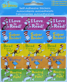 Cat In The Hat Stickers, Reading