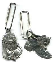 Cat Key Ring, Cat In A Shoe