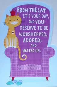 Cat Mother's Day Card, From The Cat