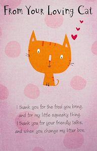 Cat Mother's Day Card, From Your Loving Cat