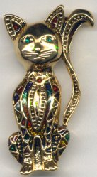 Cat Pin, Gold Cat