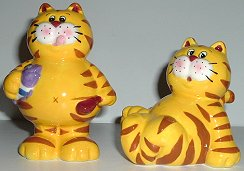 Cat Salt & Pepper Set, Tabby Cat