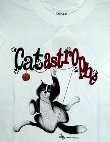 Cat T Shirt, Catastrophe, M