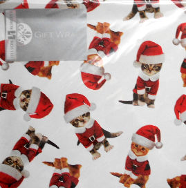 Christmas Gift Wrap, Kitty Christmas