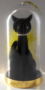 Collectible Black Cat Cologne Holder, Max Factor, Sophisti-Cat