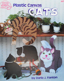 Collectible Cat Book, Plastic Canvas Cats