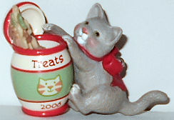 Collectible Cat Christmas Ornament, Kitten & Treat Jar