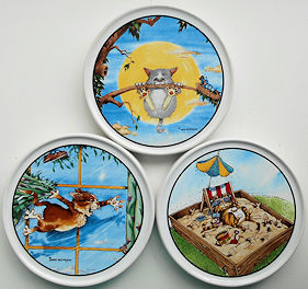 Collectible Cat Coaster, Gary Patterson's Cats