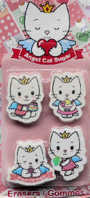 Collectible Cat Erasers, Angel Cat Sugar