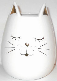 Collectible Cat Face Vase