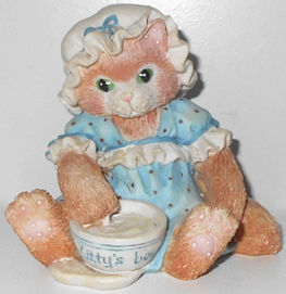 Collectible Cat Figurine, Finicky