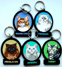 Collectible Cat Key Rings, Cat Breeds