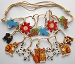 Collectible Cat Necklace, Cats, Birds & Flowers