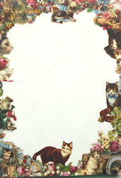 Collectible Victorian Cats Notepad