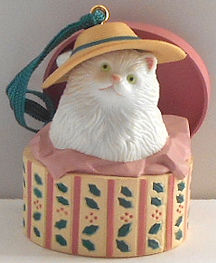 Collectible Cat Ornament, Cat In Box