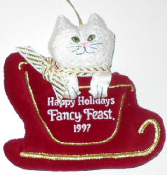 Collectible Cat Ornament, Fancy Feast, 1997