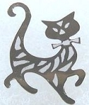 Collectible Cat Pin, Prancing Kitty